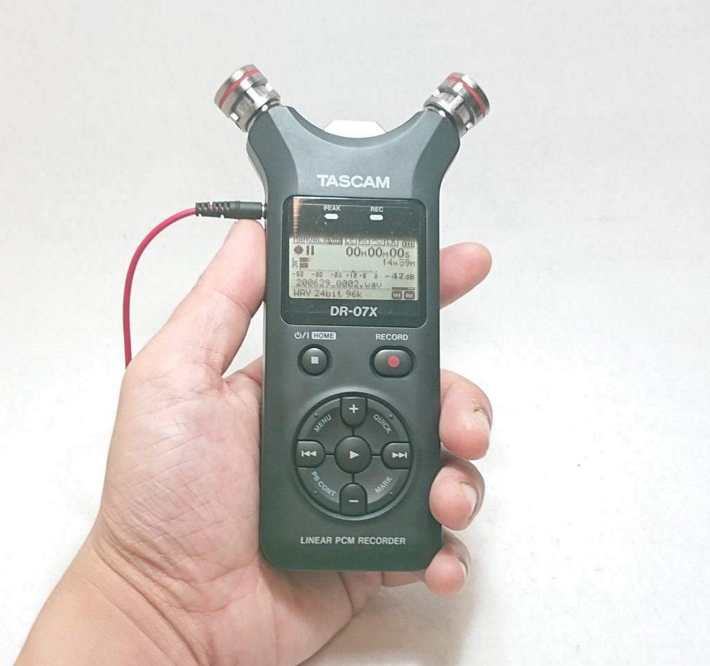DSC 0021 2 - 【TASCAM( タスカム)】PCMレコーダー 『DR-07X』を開封!…と軽くレビュー