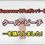 【Vaporever(ヴェポレバー)】Cloud Vape Cloud & Rayol Premium E-Liquidクール・ピーチを購入しました!