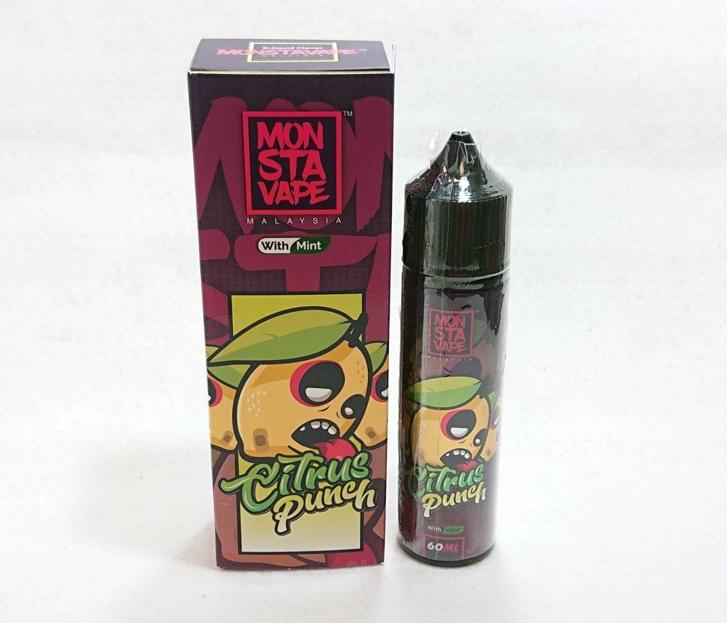 DSC 0036 - 【MONSTA VAPE (モンスタベイプ)】Citrus Punch with mint (シトラスパンチ ミント)を購入しました!~爽やかな柑橘系リキッド~