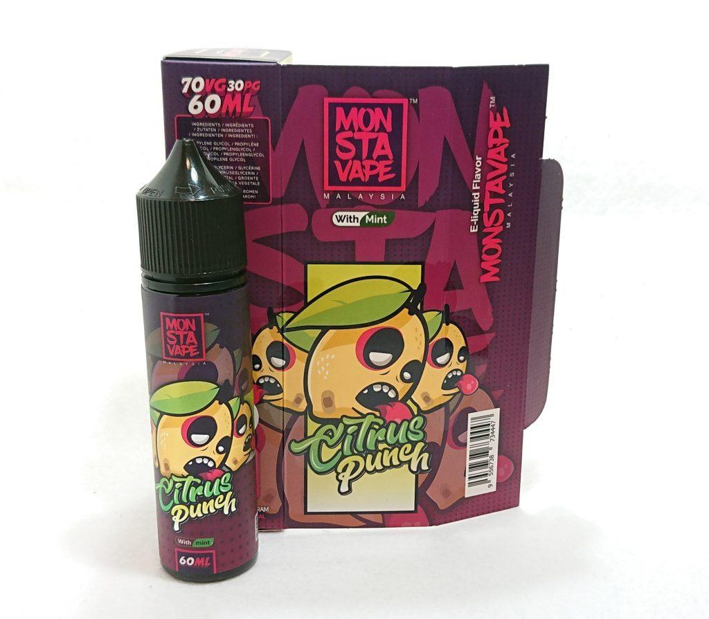 DSC 0042 - 【MONSTA VAPE (モンスタベイプ)】Citrus Punch with mint (シトラスパンチ ミント)を購入しました!~爽やかな柑橘系リキッド~