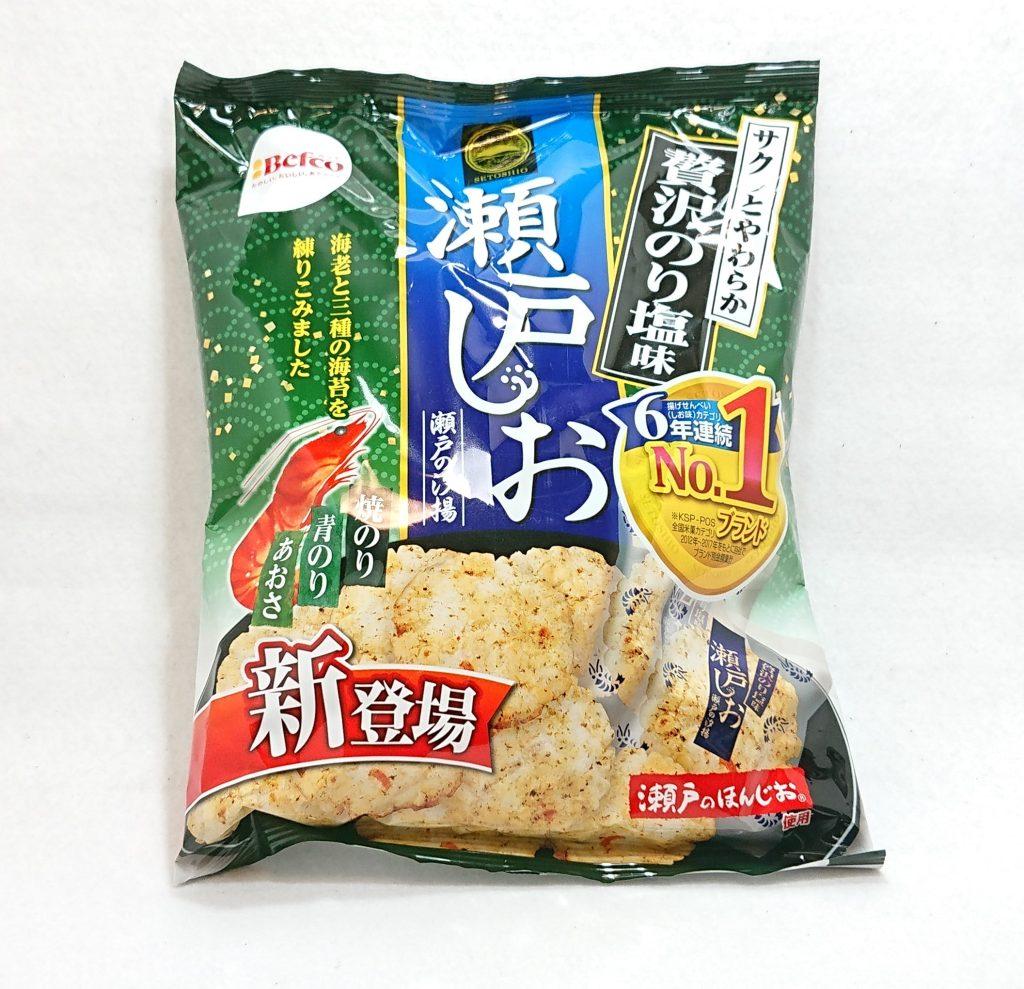 DSC 0057 1 - 瀬戸しお『贅沢のり塩』を食べてみた!