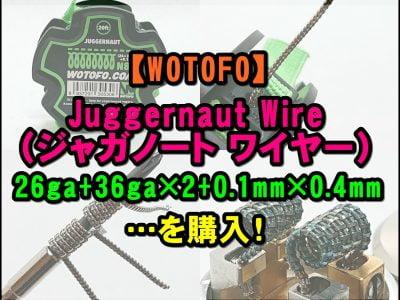 cats 1 400x300 - 【WOTOFO】ジャガノートワイヤーを購入!NI80(26ga+36ga)×2+0.1mm×0.4mm