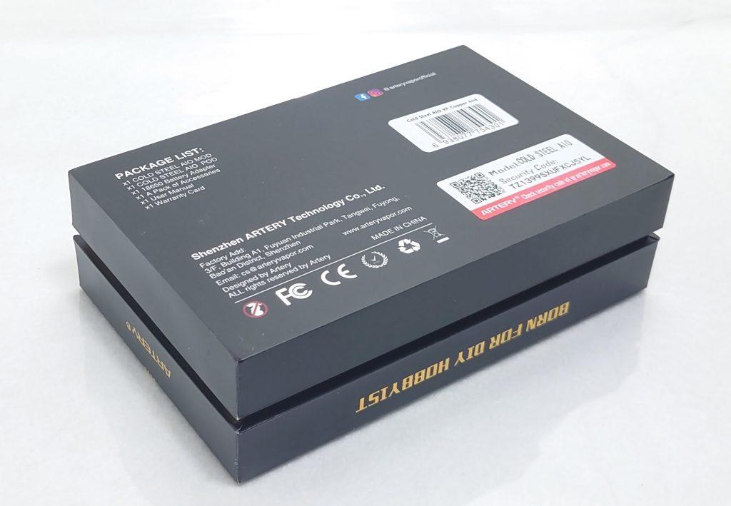 DSC 0004 - 【Artery】Cold Steel AIO XP 4ml(コールドスチール エーアイオー)をレビュー!~最大120Wまで出力が可能な何でもできるAIOデバイス~