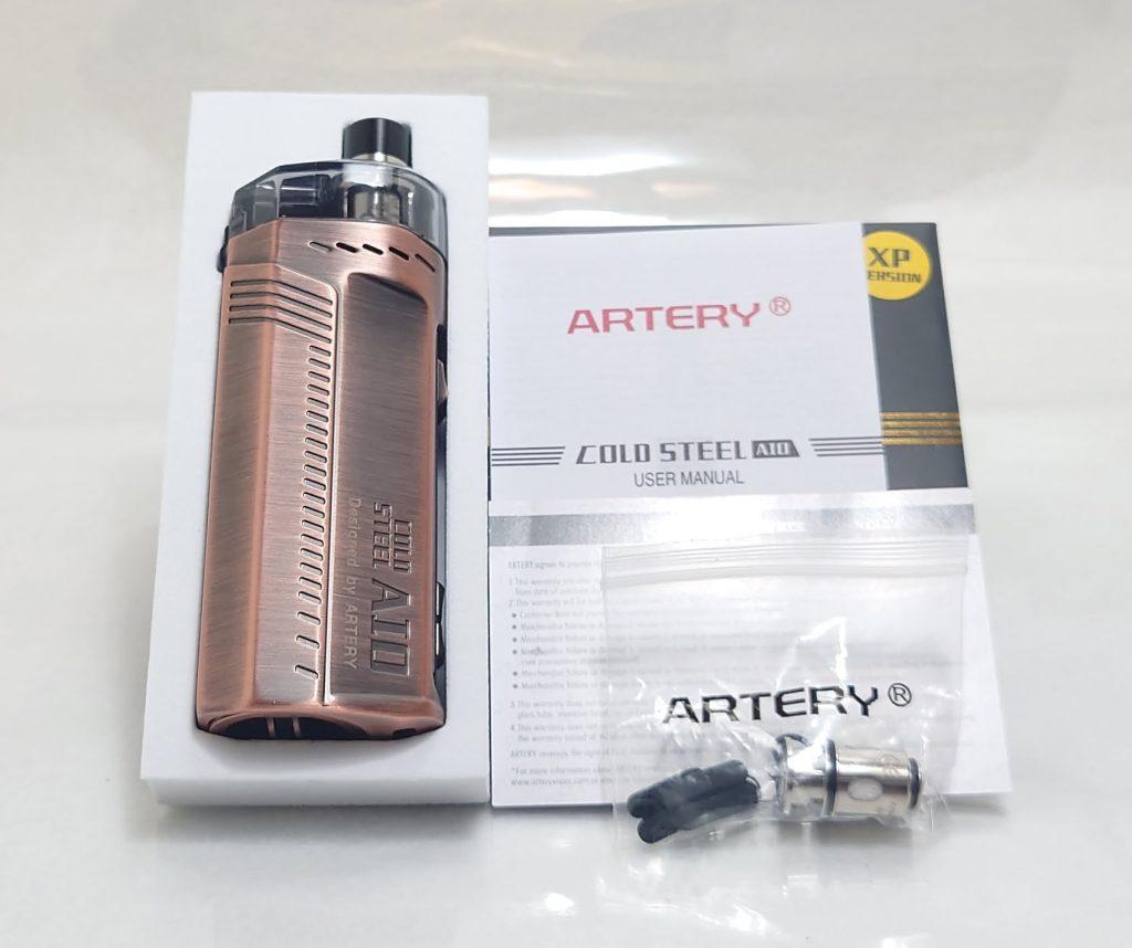 DSC 0005 - 【Artery】Cold Steel AIO XP 4ml(コールドスチール エーアイオー)をレビュー!~最大120Wまで出力が可能な何でもできるAIOデバイス~