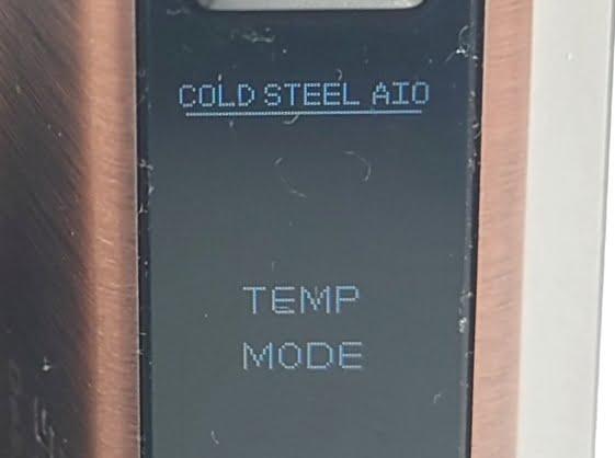 DSC 0024 - 【Artery】Cold Steel AIO XP 4ml(コールドスチール エーアイオー)をレビュー!~最大120Wまで出力が可能な何でもできるAIOデバイス~