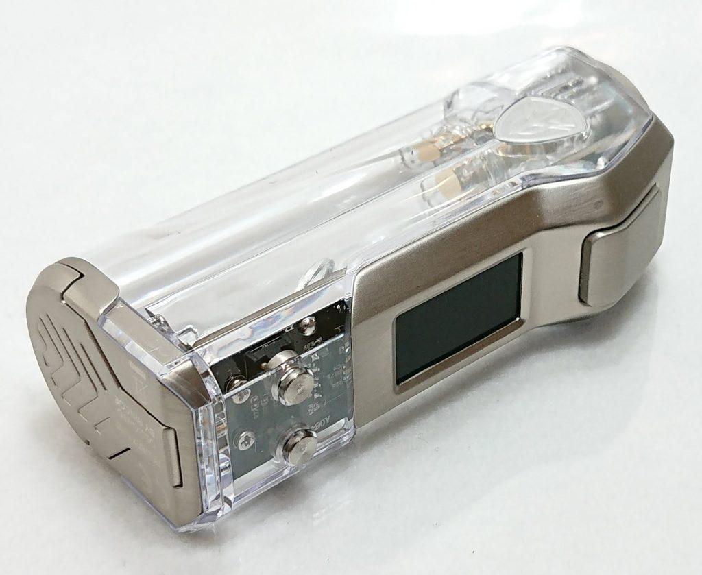 DSC 0268 - 【Rincoe】jellybox MINI 80W スターターキットをレビュー!~フルスケルトンのテクニカルMOD~