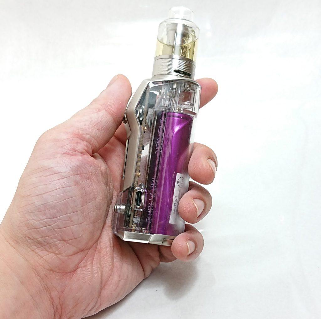 DSC 0303 - 【Rincoe】jellybox MINI 80W スターターキットをレビュー!~フルスケルトンのテクニカルMOD~