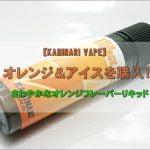 DSC 0979 1 150x150 - 【KAMINARI VAPE】オレンジ&アイスを購入!~さわやかなオレンジフレーバーリキッド~